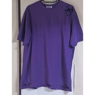 プニュズ(PUNYUS)の【美品】クラッシュTシャツ(Tシャツ(半袖/袖なし))