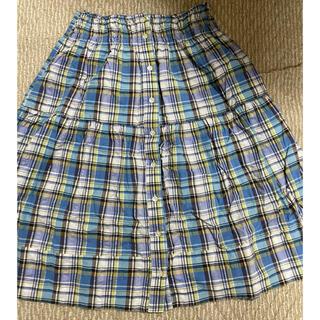 ジーナシス(JEANASIS)のJEANASIS ブルーチェックスカート フリーサイズ ジーナシス(ひざ丈スカート)