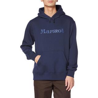 マーモット(MARMOT)のMarmot マーモット スウェットロゴパーカー ネイビー メンズM 新品(パーカー)