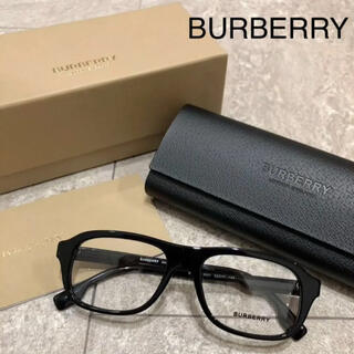 BURBERRY - BURBERRY 眼鏡 伊達眼鏡 バーバリー 黒縁 ブラック ユニセックス
