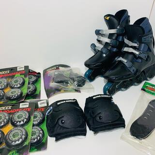 【新品】OXYGEN インラインスケート 26cm 膝当て 消耗品セット(ローラーシューズ)