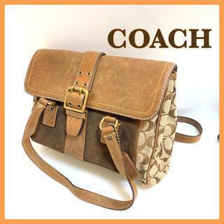 コーチ(COACH)のコーチ ショルダー ヴィンテージ シグネチャーフラップサッチェル  キャンバス(ハンドバッグ)