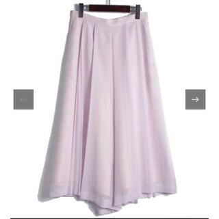 ジャスグリッティー(JUSGLITTY)のロングスカート ワイドパンツ 0 XS ジャスグリッティー パープル ピンク(カジュアルパンツ)