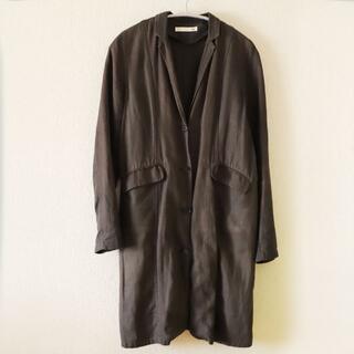 エヴァムエヴァ(evam eva)のevam eva linen long jacket(テーラードジャケット)