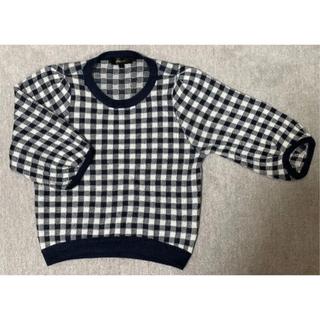 ウィゴー(WEGO)のギンガムボリューム5分袖セーター(ニット/セーター)