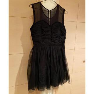 ローズバッド(ROSE BUD)のブラックチュール ドレス ワンピース (ひざ丈ワンピース)