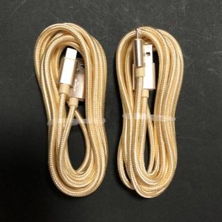 アイフォーン(iPhone)のiPhone ケーブル 充電器 2m ライトニングケーブル 2本(バッテリー/充電器)