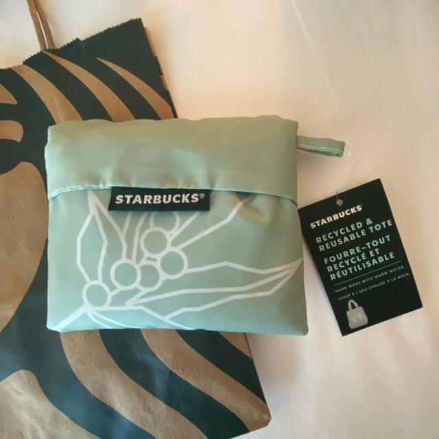 Starbucks Coffee(スターバックスコーヒー)のスターバックス アースデイ エコバッグ 海外限定 トートバッグ 日本未発売 レア レディースのバッグ(エコバッグ)の商品写真