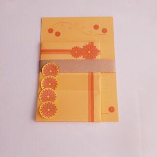 オレンジ花4~レターセット~(カード/レター/ラッピング)