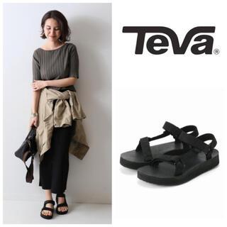 テバ(Teva)の新品 TEVA テバ LEATHER レザー 約1.5万 フラット サンダル(サンダル)