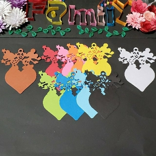 新作★レメリア shop★フラッグやメッセージタグ プレゼントに 10枚セット(カード/レター/ラッピング)