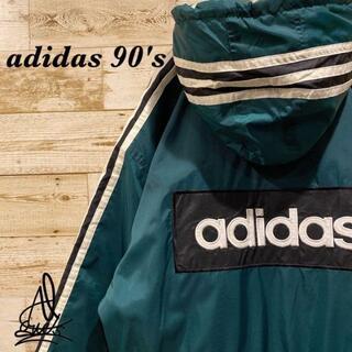 アディダス(adidas)の《90s》adidas アディダス ジャケット L☆グリーン 緑 バックロゴ(その他)