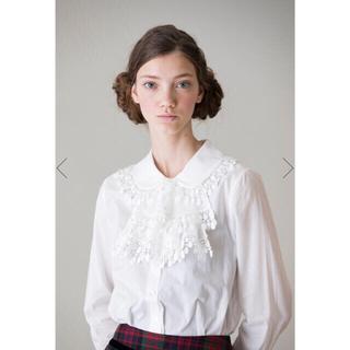 ジェーンマープル(JaneMarple)の【新品】ジェーンマープルJewelry lace jabot blouse(シャツ/ブラウス(長袖/七分))