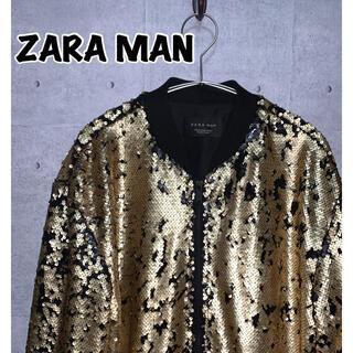 ザラ(ZARA)のZARA MAN/ザラ ボンバージャケット スパンコール(ブルゾン)