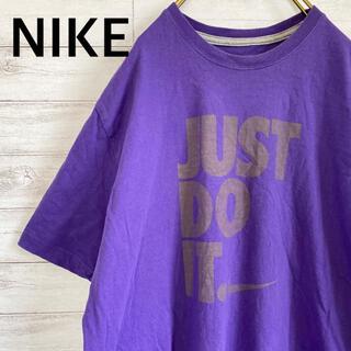 ナイキ(NIKE)のナイキ NIKE Tシャツ プリント 袖ロゴ メンズXL パープル 古着(Tシャツ/カットソー(半袖/袖なし))
