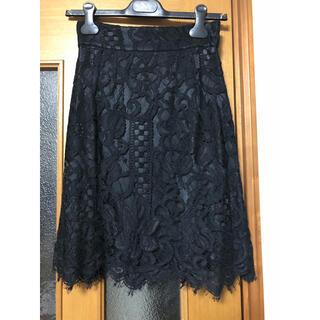 ドルチェアンドガッバーナ(DOLCE&GABBANA)の新品タグ付き ドルチェ&ガッバーナ レーススカート(ひざ丈スカート)