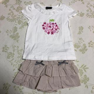 ベベ(BeBe)のべべ Tシャツ&スカート  セット(Tシャツ/カットソー)
