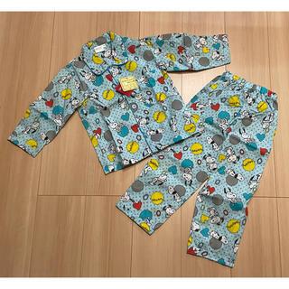 SNOOPY - スヌーピー キッズパジャマ ブルー 100サイズ