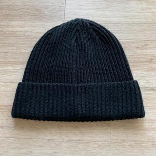 ジーユー(GU)のGU ニットキャップ ブラック(ニット帽/ビーニー)