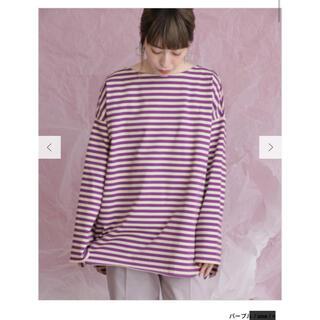 ケービーエフ(KBF)のKBF BIGBIGロングTシャツ ボーダー(Tシャツ(長袖/七分))