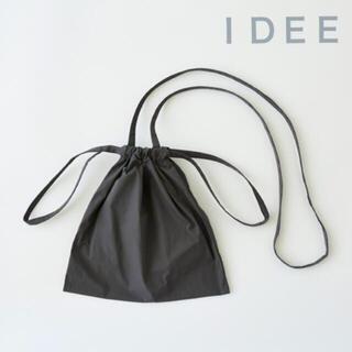 イデー(IDEE)のIDEE   Drawstring Bag Strap 巾着バッグ 黒 SS  (ショルダーバッグ)