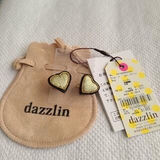 ダズリン(dazzlin)のグリーンの落ち着いた ハート型ピアス(ピアス)