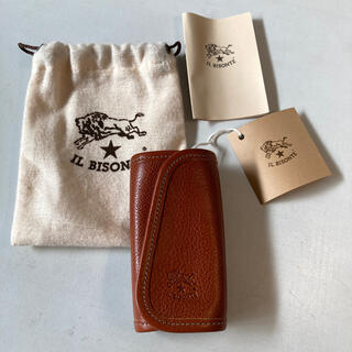 IL BISONTE - 未使用新品 IL BISONTE イルビゾンテ 4連牛革キーケース ブラウン
