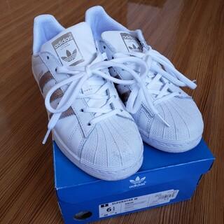アディダス(adidas)の【adidas】白スニーカー、23.5cm(スニーカー)