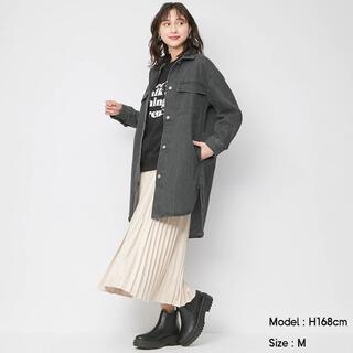 ジーユー(GU)の【新品未使用】 GU デニムロングCPOジャケット GLAY Mサイズ(Gジャン/デニムジャケット)