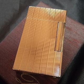 エステーデュポン(S.T. Dupont)の美品 美音◎ デュポン ライター Dupont ライン2 ゴールドG 20μ(タバコグッズ)