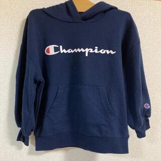チャンピオン(Champion)の1度のみ着用♡アースコラボ チャンピオンフードパーカー♡110(Tシャツ/カットソー)