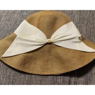 バーニーズニューヨーク(BARNEYS NEW YORK)のアシーナニューヨーク リサコ 白帽子(麦わら帽子/ストローハット)