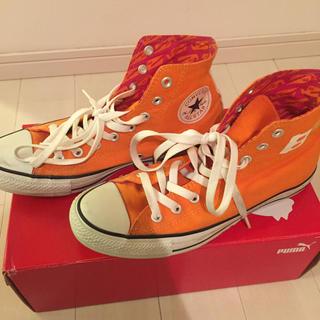 コンバース(CONVERSE)のコンバーススニーカー オレンジ(スニーカー)