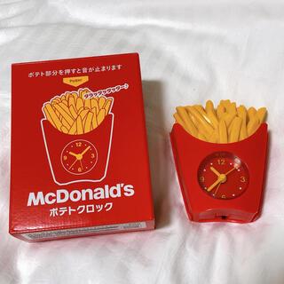 マクドナルド(マクドナルド)の【値下げ】マクドナルド ポテトクロック(置時計)