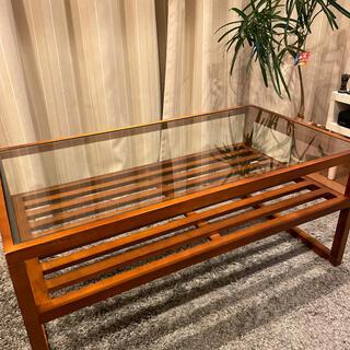 リビングテーブル アジアン ガラス