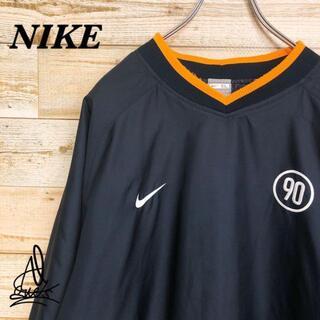 NIKE - 《刺繍ロゴ》NIKE ナイキ プルオーバー ナイロン ブラック 黒 XL