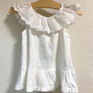 ザラキッズ(ZARA KIDS)のタグ付き新品未使用!♡ZARA カットワーク刺繍レースカットソー(Tシャツ/カットソー)