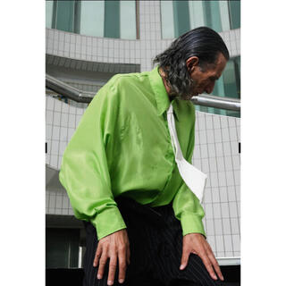 ジョンローレンスサリバン(JOHN LAWRENCE SULLIVAN)のmagliano マリアーノ 21ss シャツ ライトグリーン 黄緑(シャツ)