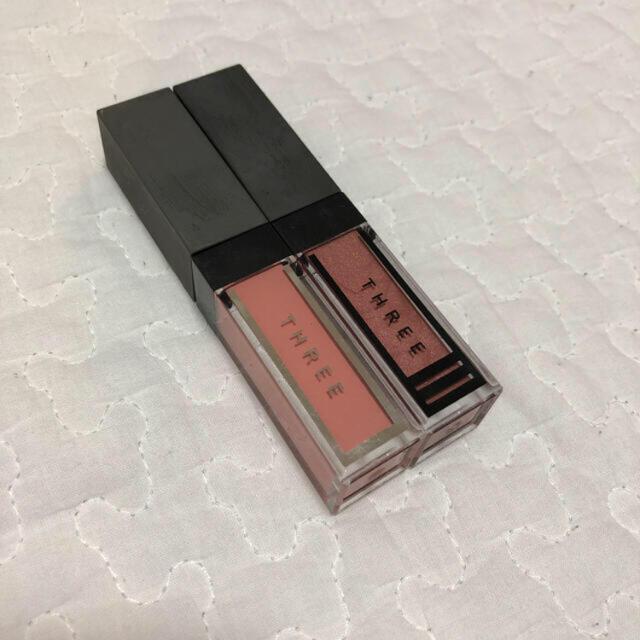 THREE(スリー)のthree ウィスパーグロスフォーアイT01&エピックミニダッシュ01 コスメ/美容のベースメイク/化粧品(アイシャドウ)の商品写真