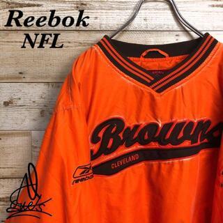 リーボック(Reebok)の《でかろご》Reebok リーボック NFL プルオーバー ナイロン 袖刺繍 L(ナイロンジャケット)