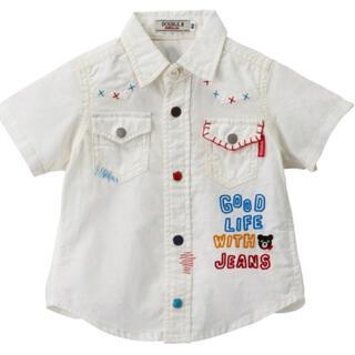 ダブルビー(DOUBLE.B)の★ダブルB★ウエスタン風半袖シャツ★110★刺繍で豪華★ミキハウス★(ブラウス)