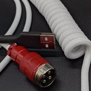 カスタムUSBケーブル 赤白黒(PC周辺機器)