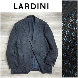 ロロピアーナ(LORO PIANA)のB21 ラルディーニ シングルテーラードジャケット ブラウン ブルー 48(テーラードジャケット)