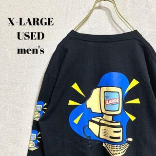 エクストララージ(XLARGE)のX-LARGE メンズ 長袖Tシャツ バックプリント ストリート M(Tシャツ/カットソー(七分/長袖))