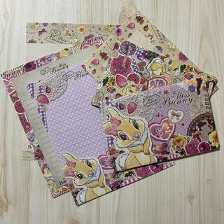 ディズニー(Disney)のレターセット ミス バニー ディズニー バンビ 便箋 封筒セット(カード/レター/ラッピング)