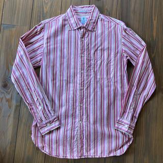 インディヴィジュアライズドシャツ(INDIVIDUALIZED SHIRTS)のGAMBERT CUSTOM SHIRTS   ピンクストライプ(シャツ)