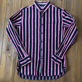 インディヴィジュアライズドシャツ(INDIVIDUALIZED SHIRTS)のGAMBERT CUSTOM SHIRTS  ピンクブラック ストライプ(シャツ)