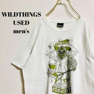 ワイルドシングス(WILDTHINGS)のWILDTHINGS×FUJIROCK メンズ 半袖Tシャツ フェス M(Tシャツ/カットソー(半袖/袖なし))