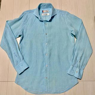 メンズメルローズ(MEN'S MELROSE)のMEN'S MELROSE リネンシャツ(シャツ)