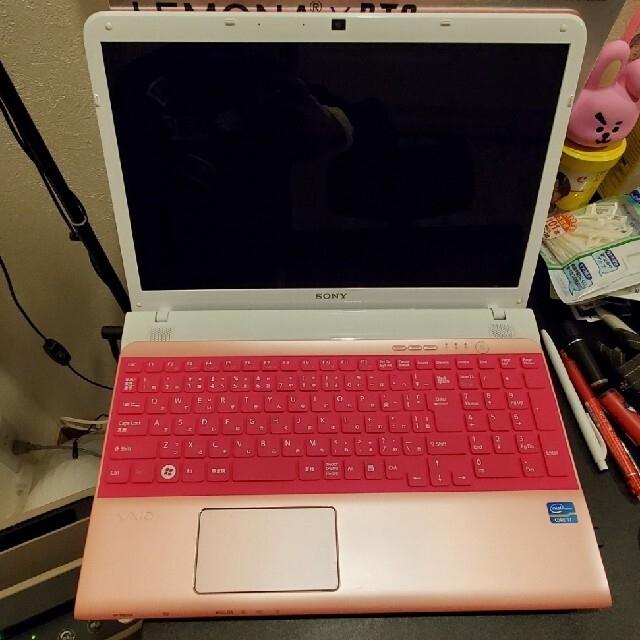 VAIO(バイオ)のSONY製 VAIOノートPC 15.5型 ピンク キーボードカバー付き スマホ/家電/カメラのPC/タブレット(ノートPC)の商品写真